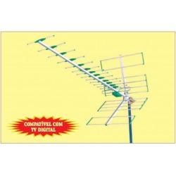 ANTENA  BANDA V COM MISTURADOR VHF + UHF THEVEAR 419C