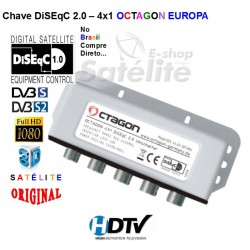 CHAVE DiSEqC OCTAGON 2.0 4X1 - EUROPA
