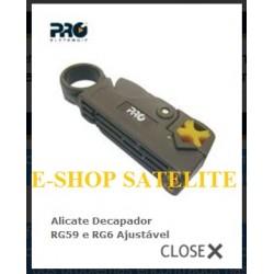Alicate Decapador RG59 e RG6 Ajustável