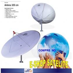Antena Fibra de Vidro 320 CM LERO-SAT
