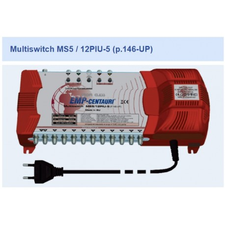 Chave Multiswitch MS5/12PIU-5 (P.146-UP) - Emp-Centauri