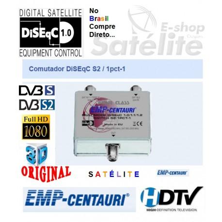 Comutador DiSEqC S2/1PCT-1 para Cascata - Emp Centauri