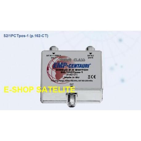 Comutador DiSEqC S2/1PCTpos-1 (P.162-CT) cascata - Emp Centauri