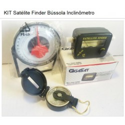 KIT Satélite Finder + Bússola + Inclinômetro Antena Parabólica