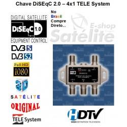 CHAVE DiSEqC 2.0  4x1 TELESYSTEM