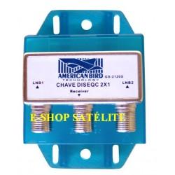 CHAVE DiSEqC 2x1 2.0 AMB COM CAPA