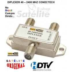 Diplexer CONECTECH Satélite + UHF/VHF ANTENA TERRESTRE