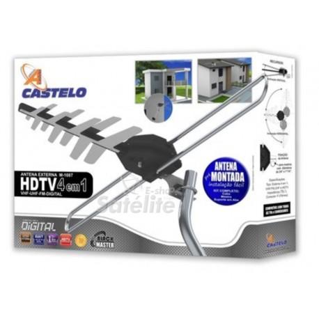 Antena Castelo Digiblack Master M1087 VHF, UHF, FM e Digital (COMPLETA)
