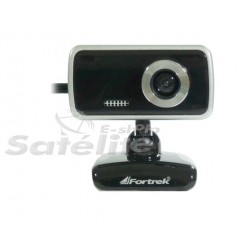 Webcam EasyCam Fun! 0.3MP Preto/Prata com Microfone FORTREK