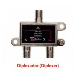 Diplexer Telesystem - Combinador Uhf/Vhf + Sinal Satélite
