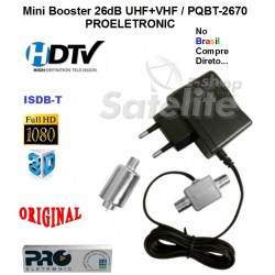 Mini Booster 26dB UHF+VHF / PQBT-2670 PROELETRONIC
