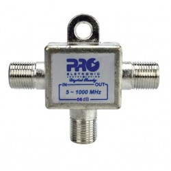 Tomada T 1GHz solder back PROELETRONIC 6 dB