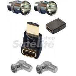 KIT CONECTORES HDTV PARA TV´S DE LED, LCD E PLASMA