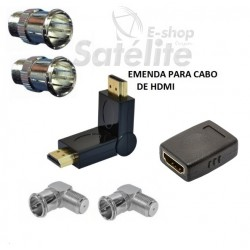KIT EMENDA HDMI MACHO GOLD 90° LOUD E CONECTOR PARA TV´S