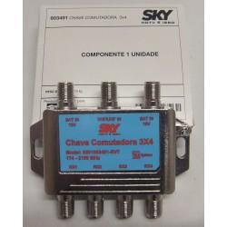 CHAVE COMUTADORA 3x4  TELESYSTEM - ORIGINAL