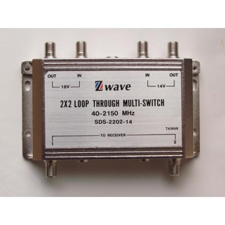 Chave 2x2 Multi-usuario Sds-2202-14 Ivision Rep. Zinwell  - ORIGINAL