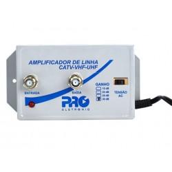 Amplificador de linha 30dB PQAP-3000 UHF/VHF   PROELETRONIC