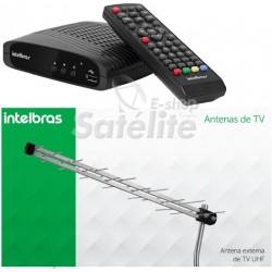 Conversor e Gravador Digital HDTV + Antena Externa Intelbras AE1028 ( KIT )