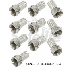 Kit Conector Rosca P/ Cabo Rg 59