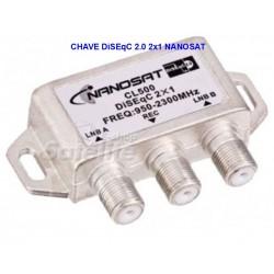 CHAVE DiSEqC 2.0 2X1 NANOSAT