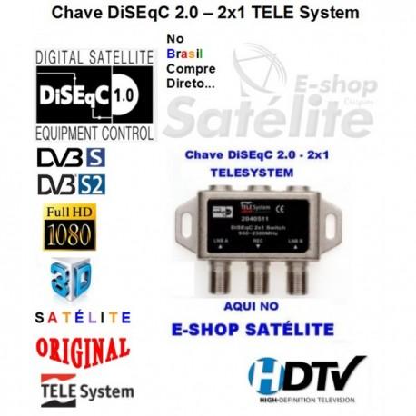 CHAVE DiSEqC 2x1 2.0 - TELESYSTEM