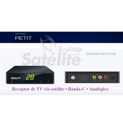 Receptor Elsys de TV via satélite PETIT • Banda-C • Analógico