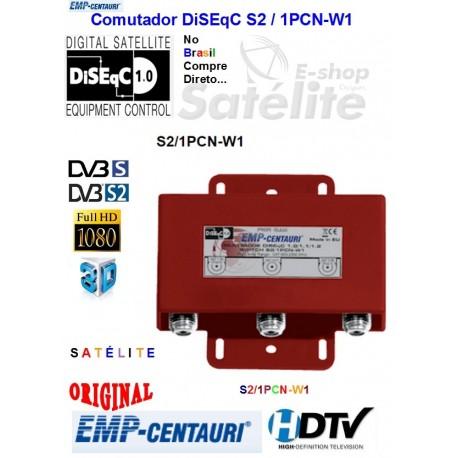 DiSEqC S2/1PCN-W1 1.0/1.1/1.2 Comutador Cascata Emp Centauri