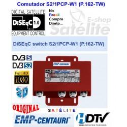 Chave DiSEqC 2.0 com Diplexer  S2/1PCP-W1 (P.162-TW)