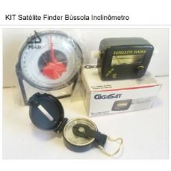 KIT Satélite Finder + Bússola + Inclinômetro Antena Parabólica