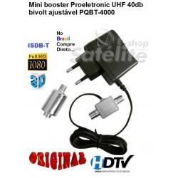 Mini Booster 40dB UHF / PQBT-4000 PROELETRONIC