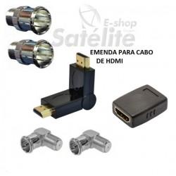 KIT EMENDA HDMI MACHO GOLD 90° LOUD E CONECTOR PARA TV´S