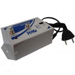 Amplificador de linha 20dB PQAP-2000 UHF/VHF   PROELETRONIC